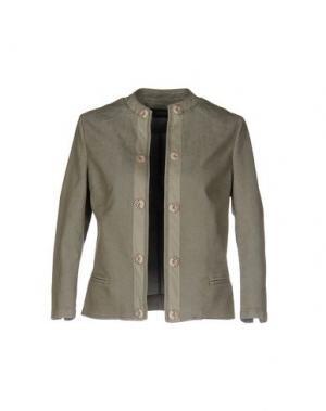 Джинсовая верхняя одежда YOON. Цвет: зеленый-милитари