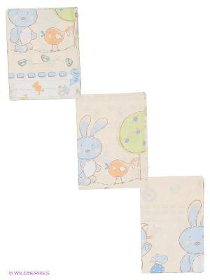 Комплект Акварель Сонный гномик. Цвет: бежевый, белый, голубой