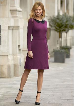 Платье Y.O.U.. Цвет: ягодный