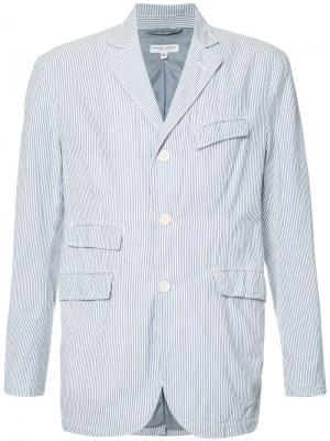 Пиджак с полосатым узором Engineered Garments. Цвет: синий