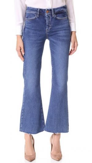 Укороченные расклешенные джинсы Lou M.i.h Jeans. Цвет: голубой