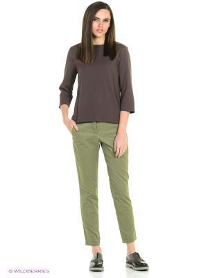 Блузка United Colors of Benetton. Цвет: коричневый