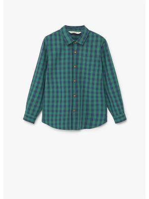 Рубашка - DAMIAN1 Mango kids. Цвет: зеленый