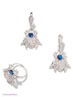 Комплект Lovely Jewelry. Цвет: серебристый, синий