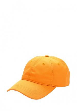 Бейсболка Lacoste. Цвет: оранжевый