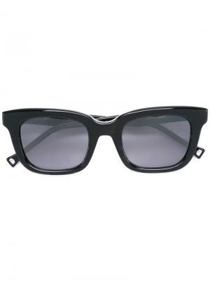Солнцезащитные очки с серыми линзами Oamc. Цвет: чёрный