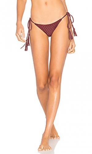 Низ бикини на завязках polihale Acacia Swimwear. Цвет: красное вино