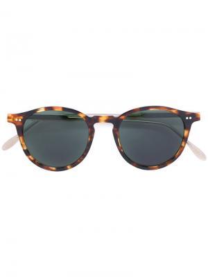 Солнцезащитные очки в оправе с эффектом черепашьего панциря Pantos Paris. Цвет: коричневый