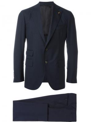 Классический костюм Gabriele Pasini. Цвет: синий