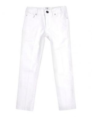 Джинсовые брюки MAURO GRIFONI KIDS. Цвет: белый