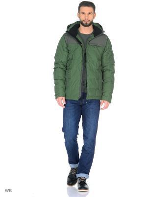 Куртка BRUNOTTI. Цвет: зеленый, темно-серый