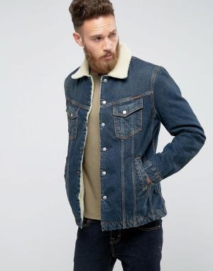 Nudie Jeans Джинсовая куртка Co Lenny. Цвет: темно-синий