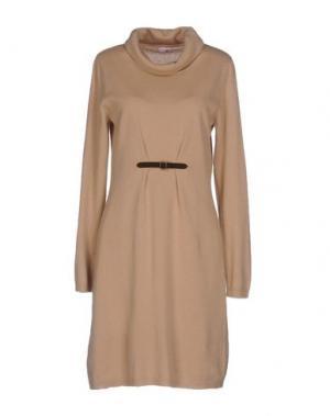 Короткое платье ROSSOPURO. Цвет: бежевый