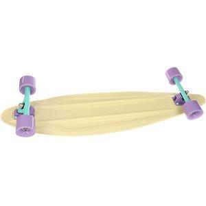 Лонгборд Пластборд Candy Long Beige 9 x 36 (91.4 см) Пластборды. Цвет: бежевый