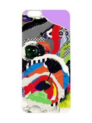 Чехол для iPhone 6 Мопс Chocopony. Цвет: белый, черный, сиреневый
