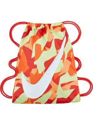 Мешок для обуви YA GRAPHIC GYMSACK Nike. Цвет: оранжевый, белый, салатовый