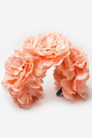 Ободок Patricia Bruni. Цвет: персиковый