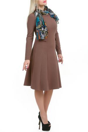 Платье Густа LESYA. Цвет: коричневый
