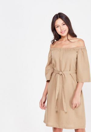 Платье Cocos. Цвет: коричневый