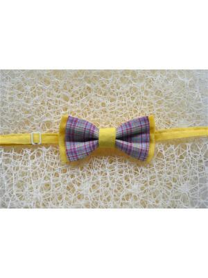 Галстук-бабочка BOB Accessories. Цвет: серый, желтый, розовый