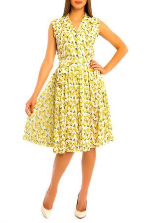 Платье MoNaMod. Цвет: желтый