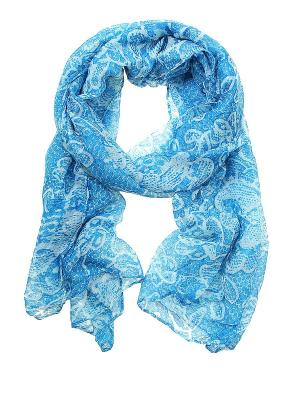 Платок Migura. Цвет: синий, белый