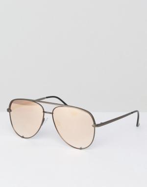 Quay Australia Солнцезащитные очки-авиаторы X Desi Perkins. Цвет: золотой