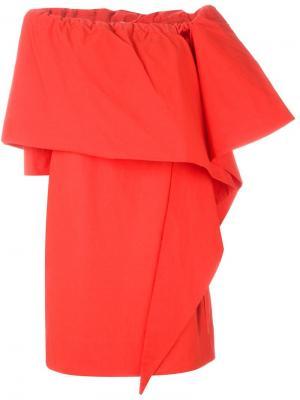 Платье со спущенными плечами Isa Arfen. Цвет: красный