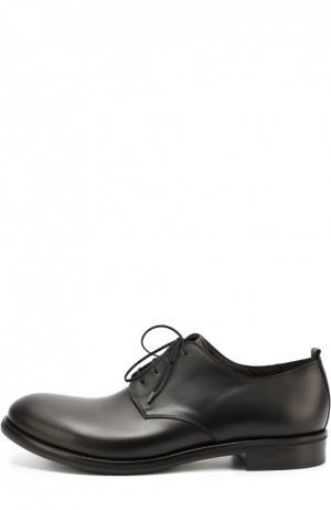 Классические кожаные дерби Rocco P.. Цвет: черный