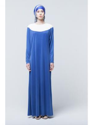 Платье макси трикотажное с поясом Bella kareema