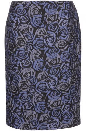 Юбка из фактурной ткани с цветочным  принтом Persona