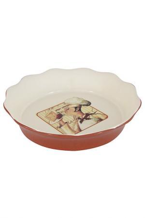 Блюдо круглое 26 см TERRACOTTA. Цвет: мультиколор