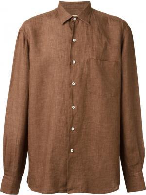 Рубашка с нагрудным карманом Al Duca D'Aosta 1902. Цвет: коричневый