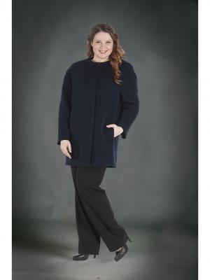 Пальто Queen Size. Цвет: синий
