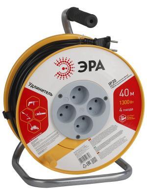 Удлин-ль силов ЭРА RP-4-2x0.75-40m пласт. катушка без зазем. 40м 4гн 2х0.75мм2. Цвет: желтый