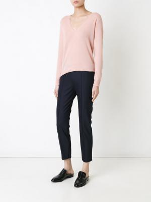 Укороченные брюки кроя слим Theory. Цвет: синий