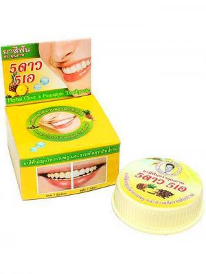 Травяная отбеливающая зубная паста с экстрактом Ананаса 5 STAR COSMETIC. Цвет: золотистый