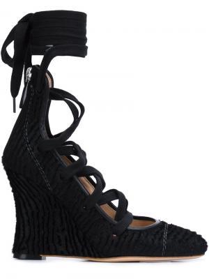 Туфли на шнуровке Alchimia Di Ballin. Цвет: чёрный