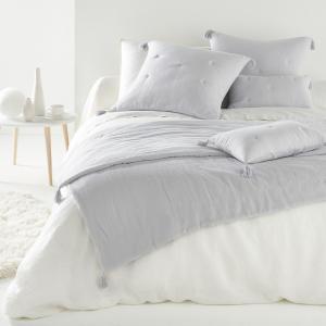 Одеяло однотонное из 100% хлопка, KUMLA La Redoute Interieurs. Цвет: белый,розовый,серо-зеленый,серый жемчужный