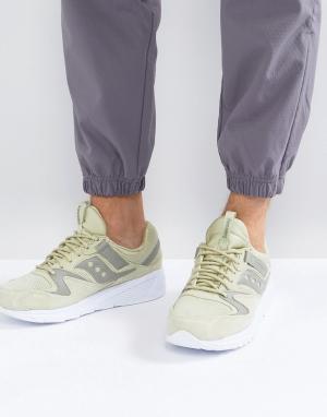 Saucony Зеленые замшевые кроссовки Grid 8500 HT S70370-2. Цвет: зеленый