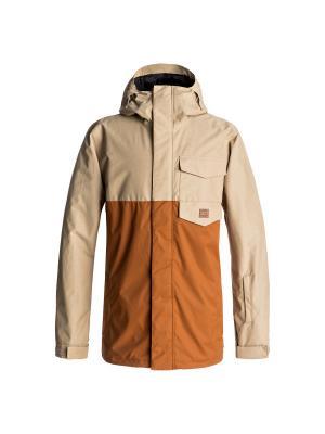 Куртка DC Shoes. Цвет: светло-бежевый, светло-коричневый