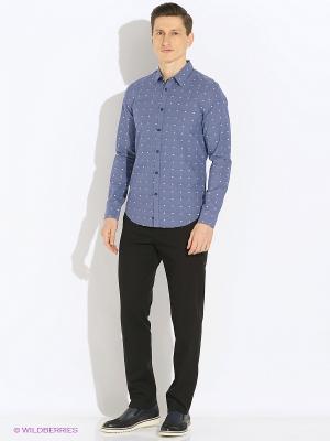 Рубашка Sisley. Цвет: серо-голубой