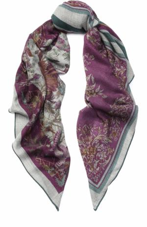 Кашемировая шаль 4 Scialli с принтом Loro Piana. Цвет: серый