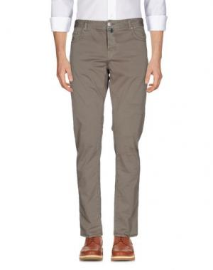 Повседневные брюки LUIGI BORRELLI NAPOLI. Цвет: какао