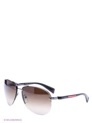 Очки солнцезащитные Prada Linea Rossa. Цвет: темно-коричневый