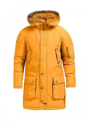 Пальто Finn Flare. Цвет: желтый