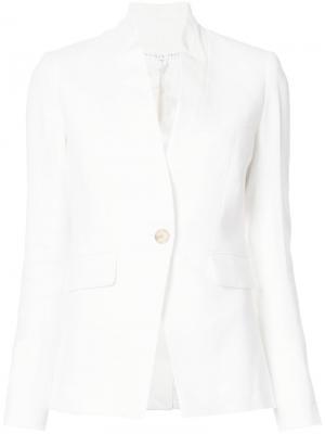 Пиджак с воротником-стойка Veronica Beard. Цвет: белый