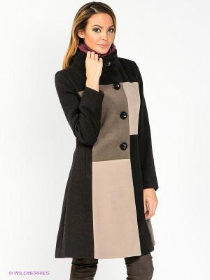 Пальто WEGA. Цвет: черный, коричневый