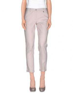Повседневные брюки BREBIS NOIR. Цвет: светло-розовый