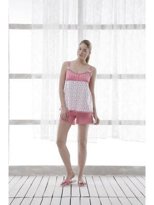 Пижама RELAX MODE. Цвет: сиреневый, бледно-розовый, серый
